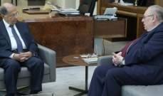 الرئيس عون أجرى جولة أفق عامة مع البستاني والتقى كرم وحبيش والسماك