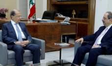 الرئيس عون استقبل النائب غسان مخيبر