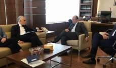 بوعاصي التقى نائب المدير العام لسياسة الجوار ومفاوضات التوسع بالاتحاد الأوروبي