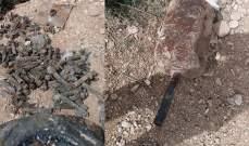 الجيش: العثور على عبوات وذخائر من مخلفات التنظيمات الإرهابية في عرسال
