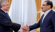 شمخاني: إيران وروسيا ستواصلان دعم القوات السورية في محاربة الإرهاب