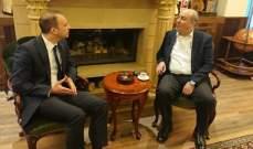 المحافظ خضر التقى سفير تركيا في لبنان