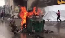 حالات اختناق في صفوف المتظاهرين بعوكر من جراء الغاز المسيل للدموع