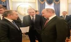 باسيل: الحديث مع بوتين يكون عميقاً واستراتيجياً من المشرق الى العالم