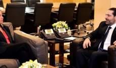 """الحريري بحث مع موغيريني بخطوات تنفيذ مقررات """"سيدر"""" وسبل تعزيز العلاقات الثنائية"""