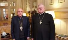 درويش التقى السفير البابوي في البرلمان الأوروبي
