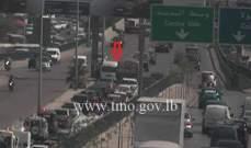 تصادم بين مركبتين على جسر الكولا باتجاه نفق سليم سلام والاضرار مادية
