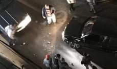 النشرة: حادث تصادم بين سيارتين بشارع الجنرال بعين الرمانة والاضرار مادية