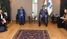 اللواء عثمان استقبل مدير مكتب المنظمة الدولية للهجرة في لبنان على رأس وفد