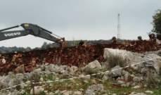 النشرة: جرافة إسرائيلية إجتازت السياج التقني في خراج ميس الجبل