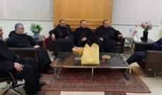 فنيانوس بحث مع رئيس دير مار مارون- مجد المعوش في إنماء منطقة الشوف