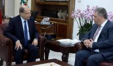 الرئيس عون التقى السفير الفلسطيني اشرف دبور
