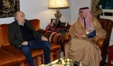 جنبلاط عرض الأوضاع مع السفير السعودي