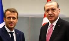 أردوغان وماكرون بحثا هاتفيا في مسائل سوريا ومكافحة الإرهاب واللاجئين
