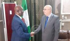 السفير ابو سعيد يلتقي الوزير ويلز ويوقّع بروتوكولين في نيجيريا