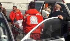 النشرة: جريحة نتيجة حادث سير عند مستديرة مرجان في صيدا