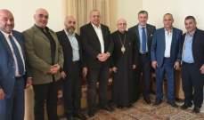 المطران درويش استقبل وفد لقاء الأحزاب الوطنية في البقاع