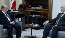 الرئيس عون بحث مع الوزير السابق غطاس خوري بالأوضاع العامة