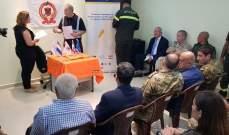 الدفاع المدني في العريضة تسلم معدات إنقاذ مقدمة من هولندا