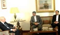 الحسيني التقى السفير الايراني وبحث معه الاوضاع في لبنان والمنطقة