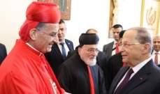 الراعي يقلّد الرئيس عون وسام مار مارون وهو الارفع في الكنيسة المارونية