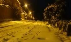 جرافات بلدية شبعا تعمل منذ الصباح على فتح الطرق العامة
