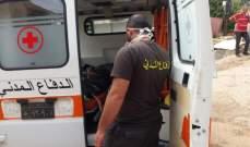 الدفاع المدني: نقل جثة امرأة من برسا- الكورة إلى