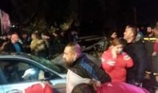 جريح سوري في حادث سير على طريق عام زوق مصبح