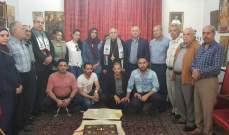 درويش يستقبل وفداً من الجبهة الديمقراطية لتحرير فلسطين