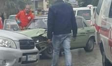 النشرة: جريح في حادث سير بين سيارتين في بطرام بالكورة