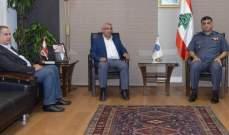 اللواء عثمان التقى اسامة سعد والسفير الاسباني في لبنان