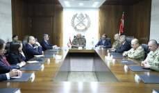 قائد الجيش التقى رئيس مكتب الأمن القومي في جمهورية بولونيا