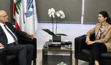 وزير المال عرض مع لاسن الاوضاع السياسية والمالية في لبنان