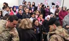 توزيع معاطف على 358 طالبة في مدرسة التقدم الرسمية للبنات في باب الرمل