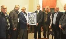 أسامة سعد استقبل سفير الجزائر في لبنان أحمد بوزيان
