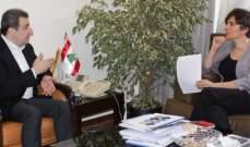 ابو فاعور بحث مع سفيرة كندا في تفعيل التعاون الاقتصادي والصناعي
