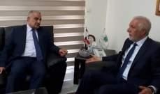 زعيتر بحث مع رئيس جمعية تجار لبنان الشمالي شؤونا زراعية