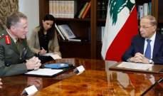 الرئيس عون: بناء اسرائيل للجدار على الحدود لا يأتلف مع جهود حفظ الأمن
