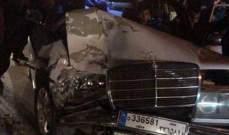 جريح نتيجة حادث سير في قصرنبا ببعلبك