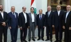 وفد من نواب بعلبك الهرمل أطلع الرئيس عون على الأوضاع الامنية والانمائية