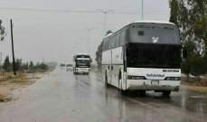 دخول الحافلات إلى الرستن في ريف حمص الشمالي لترحيل المسلحين إلى جرابلس