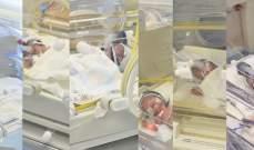 أم لبنانية تلد 6 أطفال توائم بصحة جيدة