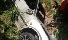 النشرة: جريحان في حادث انقلاب سيارة في وادي الزرارية