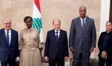 الرئيس عون: نعمل ليكون لبنان البلد الذي يستضيف أول مكتب اقليمي لمنظمة الفرانكوفونية في المنطقة