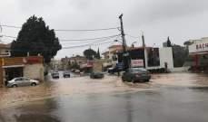 رياح عاصفة وانخفاض في الحرارة وتساقط البرد في قرى قضاء الكورة