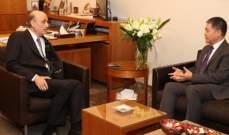 جعجع عرض وسفير الصين الاوضاع المحلية والاقليمية