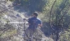 إخماد حريق أعشاب يابسة في حقل الريس بكسروان