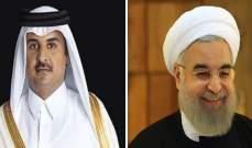 أمير قطر يهنئ روحاني بذكرى الثورة الإسلامية