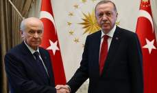 """جليك: اردوغان يلتقي رئيس حزب """"الحركة القومية"""" المعارض غدا الأربعاء"""