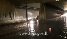 قطع الطريق الممتد من الطيونة باتجاه شاتيلا بالاتجاهين بسبب تجمع كثيف للمياه